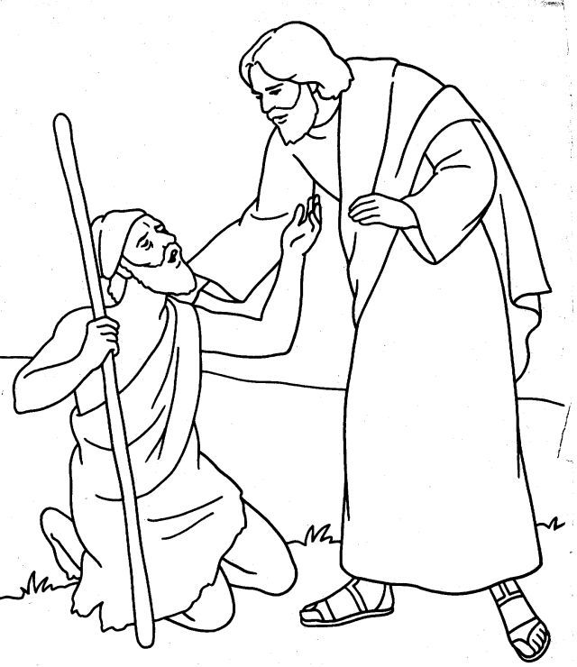 Jesus Heals The Blind Man Coloring Page Coloring Page Jesus Heals