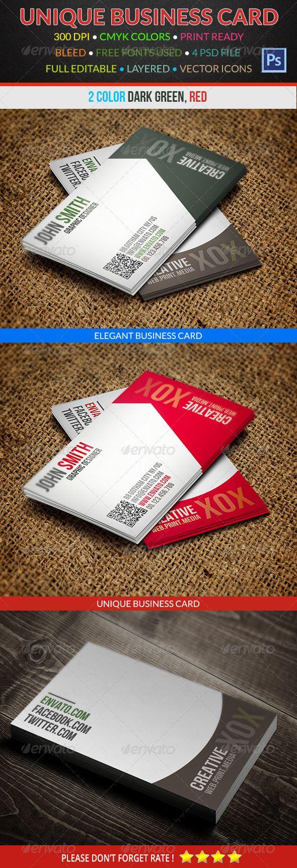 Creative Business Card 181 | Tarjetas de presentación, Tarjetas y ...