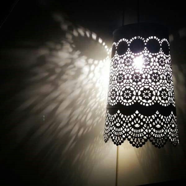Lowes lamp..Ikeas pattern