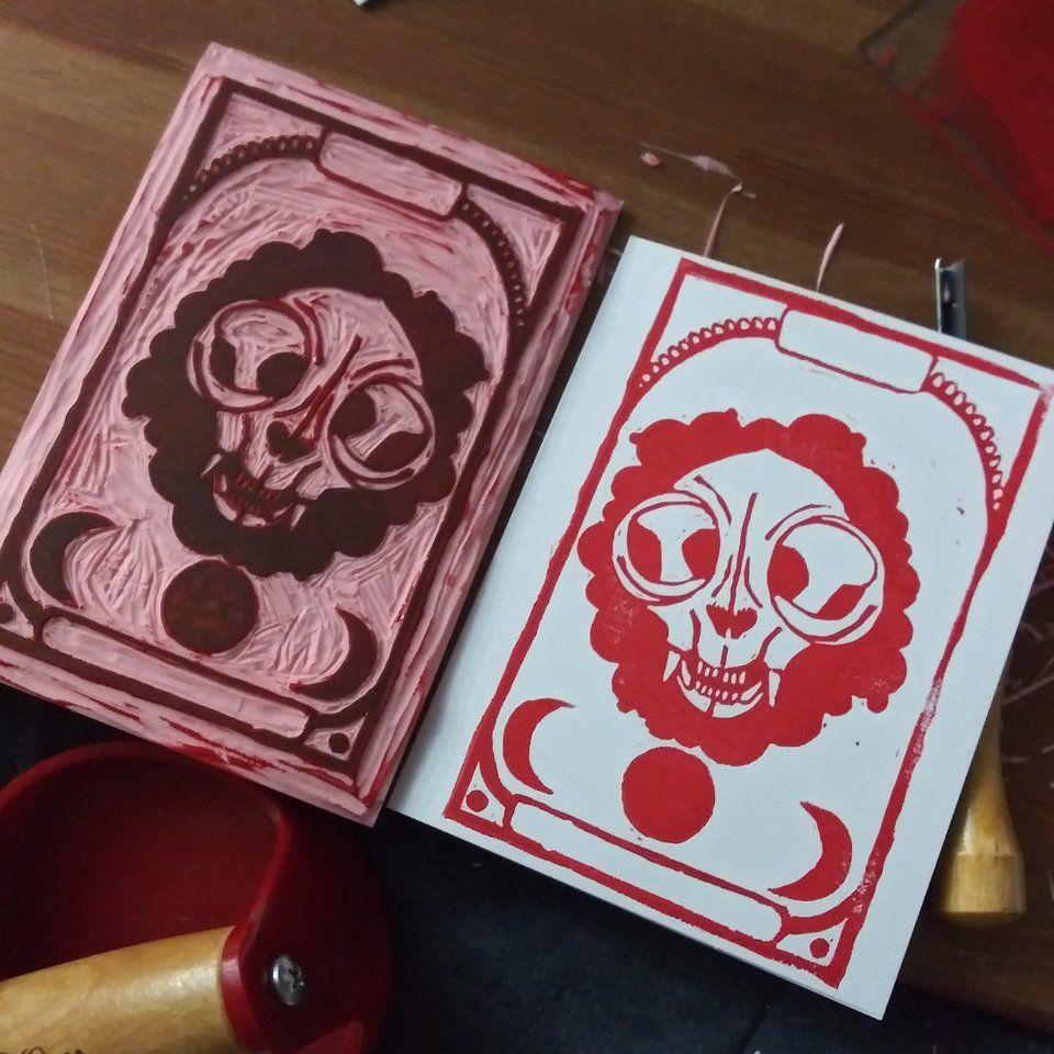 First linocut in a long time linocuts linocut prints