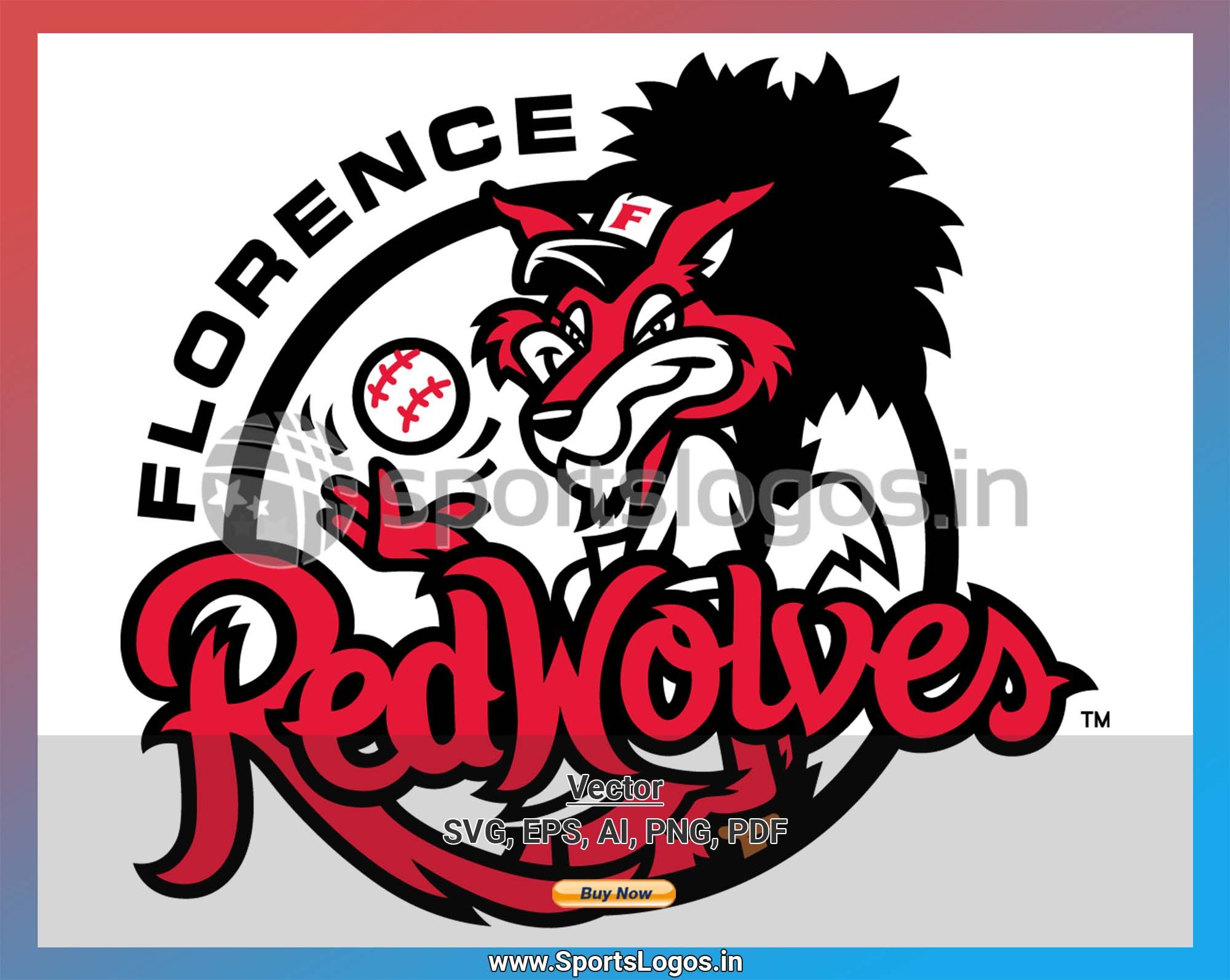 Florence Red Wolves Baseball Sports Vector Svg Logo In 5 Formats Spln001490 Sports Logos Embroidery Vector For Nfl Nba Nhl Mlb Milb And More Sports Baseball Logos Embroidery Logo