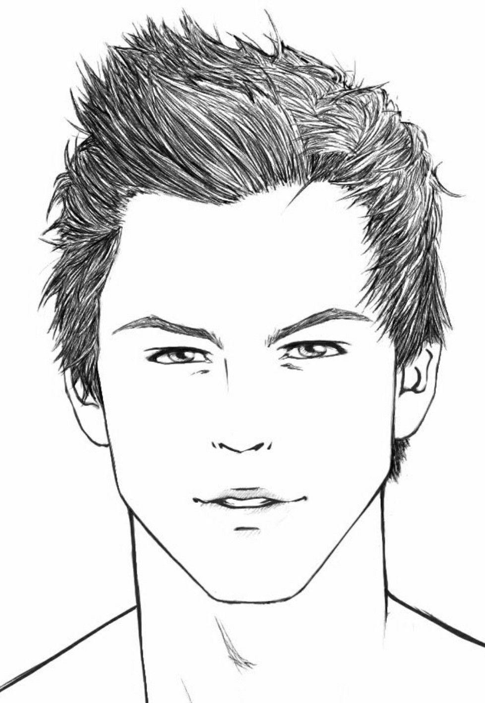 Pin De Julia Mueller Em Desenhos Rosto Masculino Desenho De