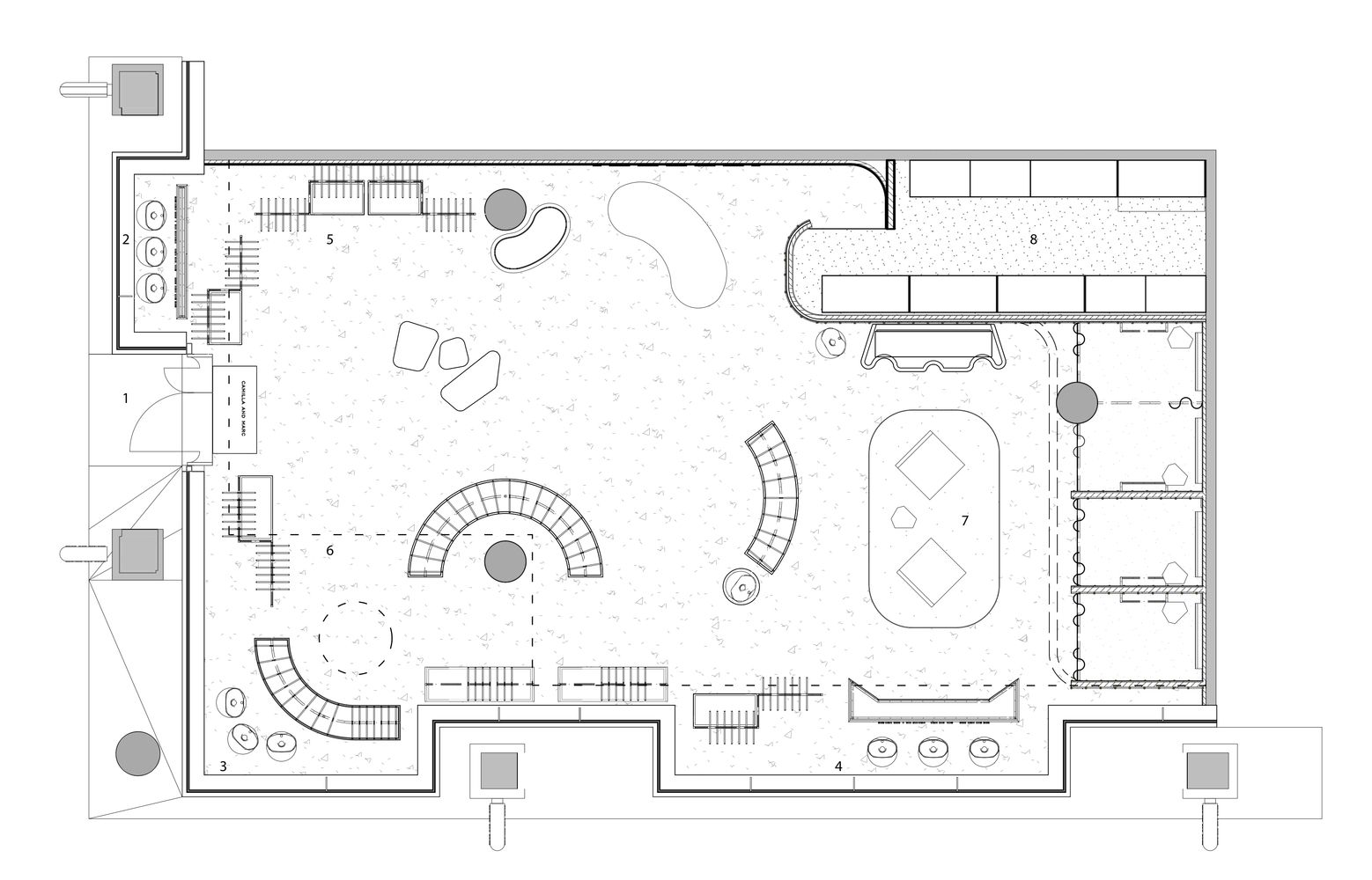 Gallery Of Camilla Marc Calile Hotel Store Akin Atelier 12 Retail Store Layout Store Plan Jewelry Store Design