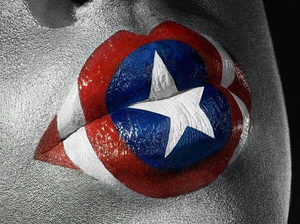Lip art - American hero