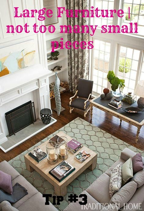 10 Tips for Decorating a Large Living room / Great room | Better ...