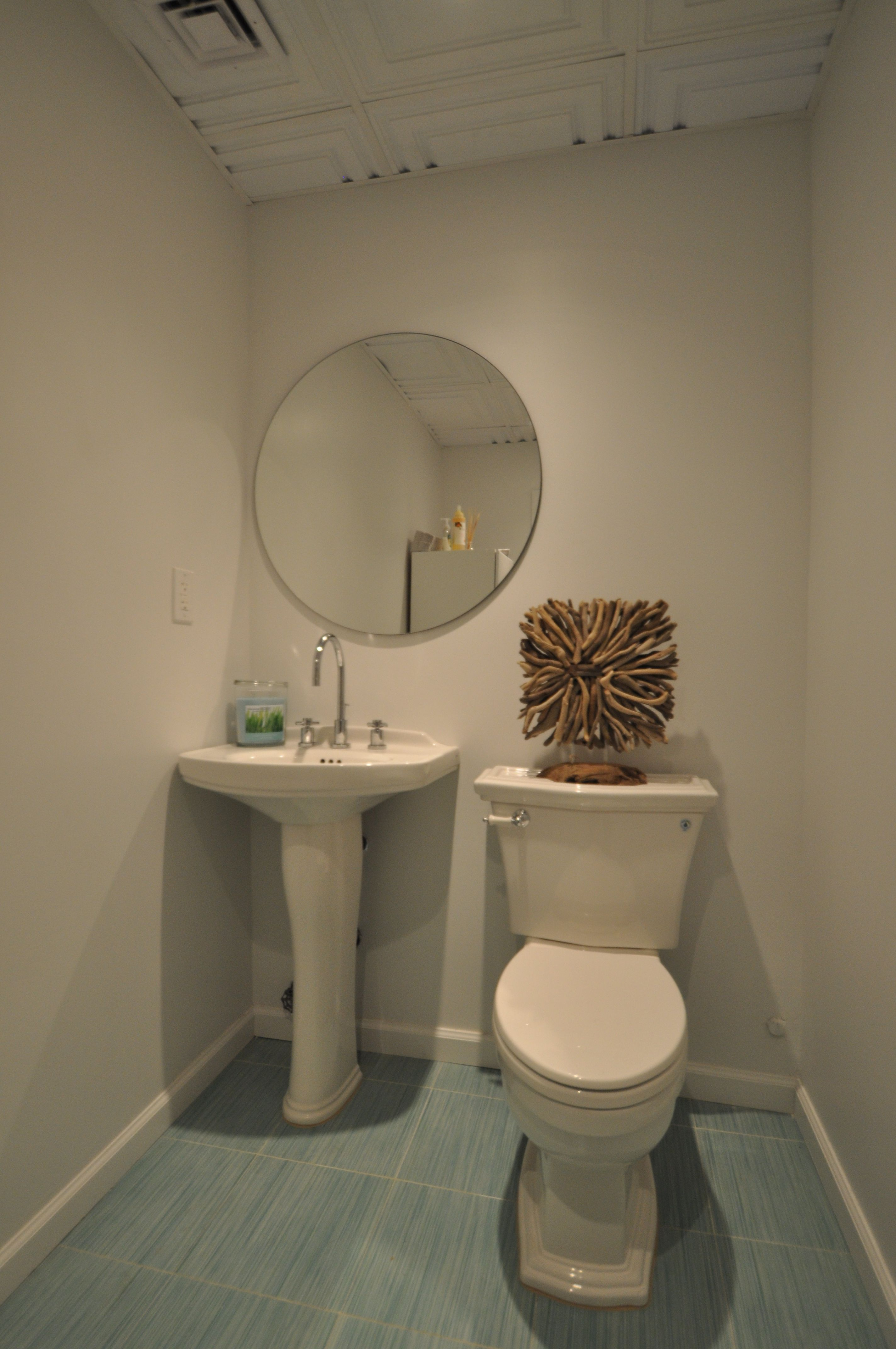 Commercial 1/2 Bath with Toto Fixtures and Pedestal Sink