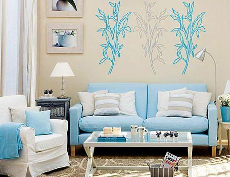 fotos e ideas para pintar o decorar la casa en azul.   relajante