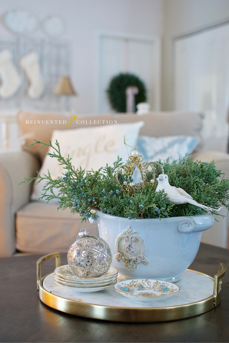 French Country Christmas Home Tour French Country Christmas Christmas Coffee Table Decor Gold Christmas Decorations