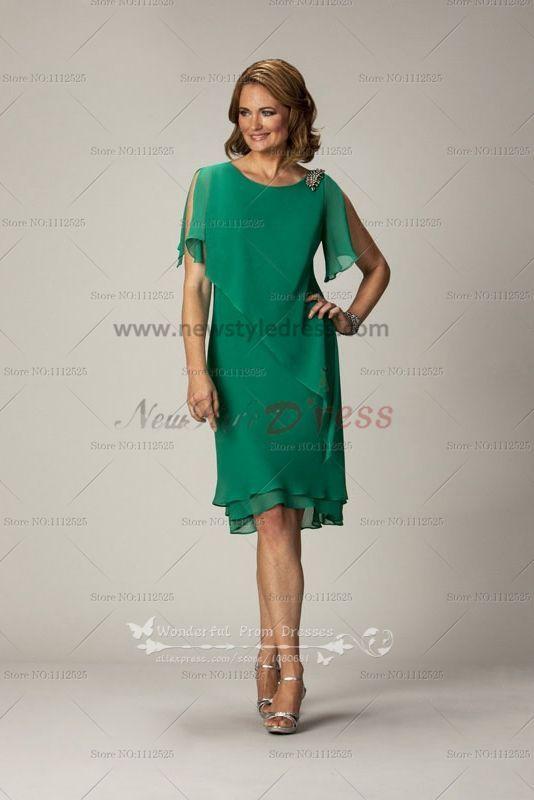 Elegant mother of the bride dress for the beach wedding Dark Green ...