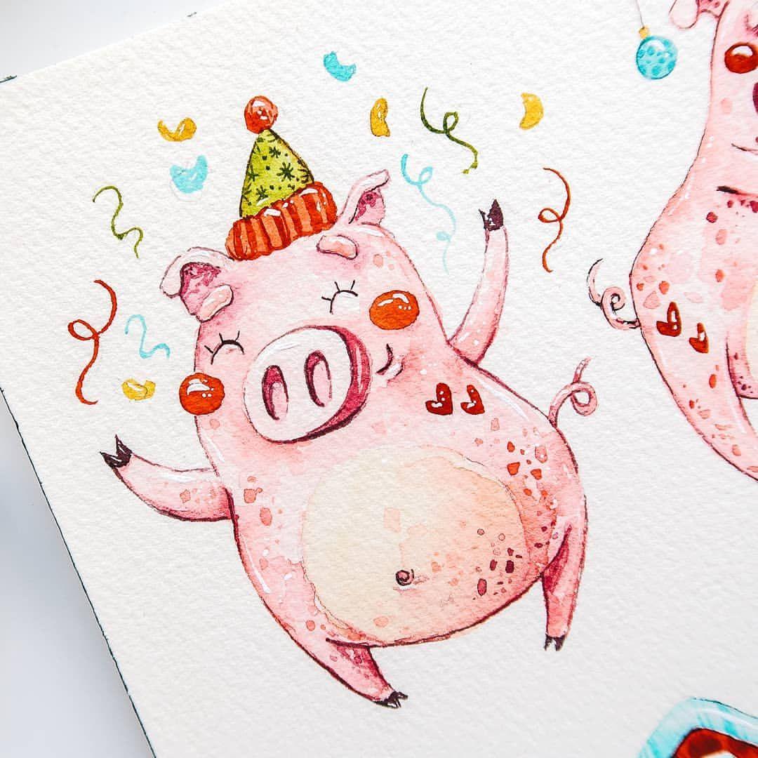Прикольные, как рисовать открытку на новый год 2019