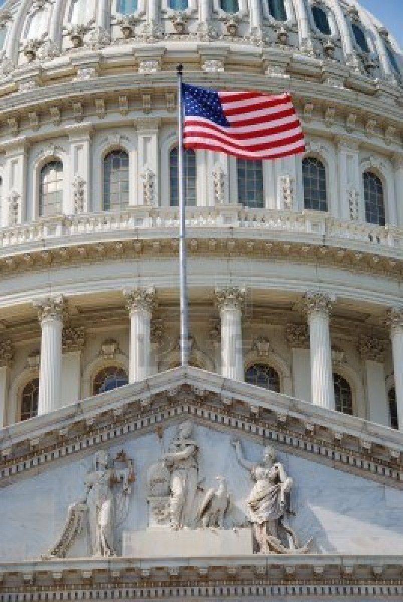 Us National Flag Flying In Front Of Us Capitol Building In Washington Us Capitol Capitol Building Flag