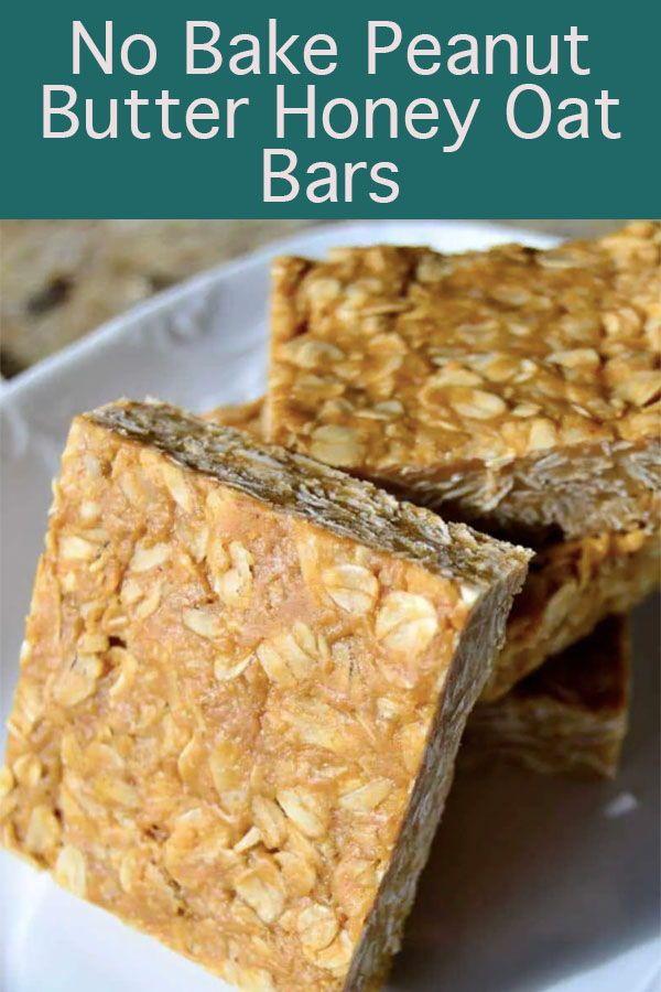 No Bake Peanut Butter Honey Oat Bars