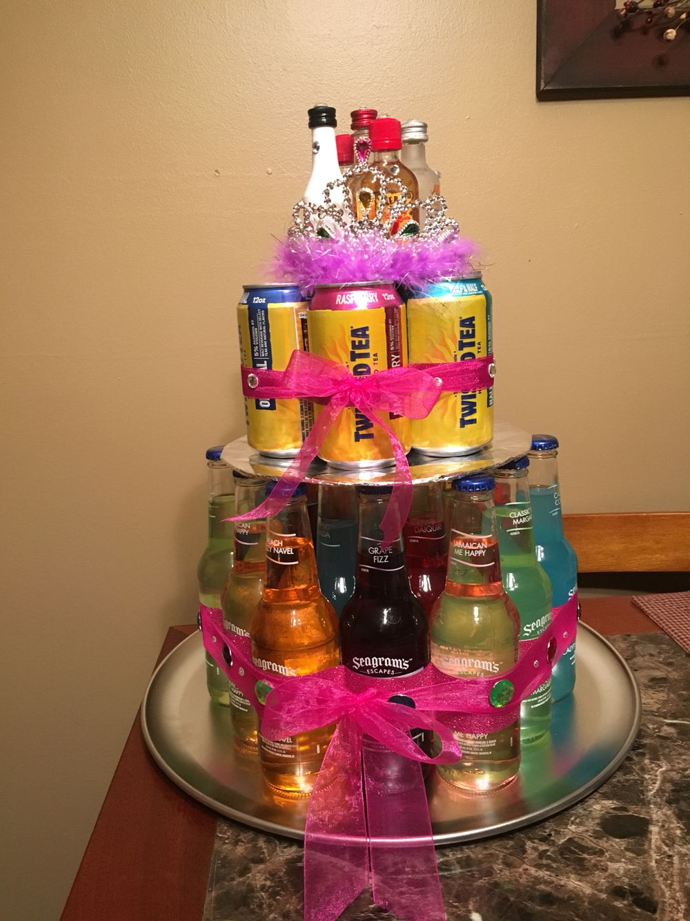 Seagrams & twisted tea cake made for a perfect birthday