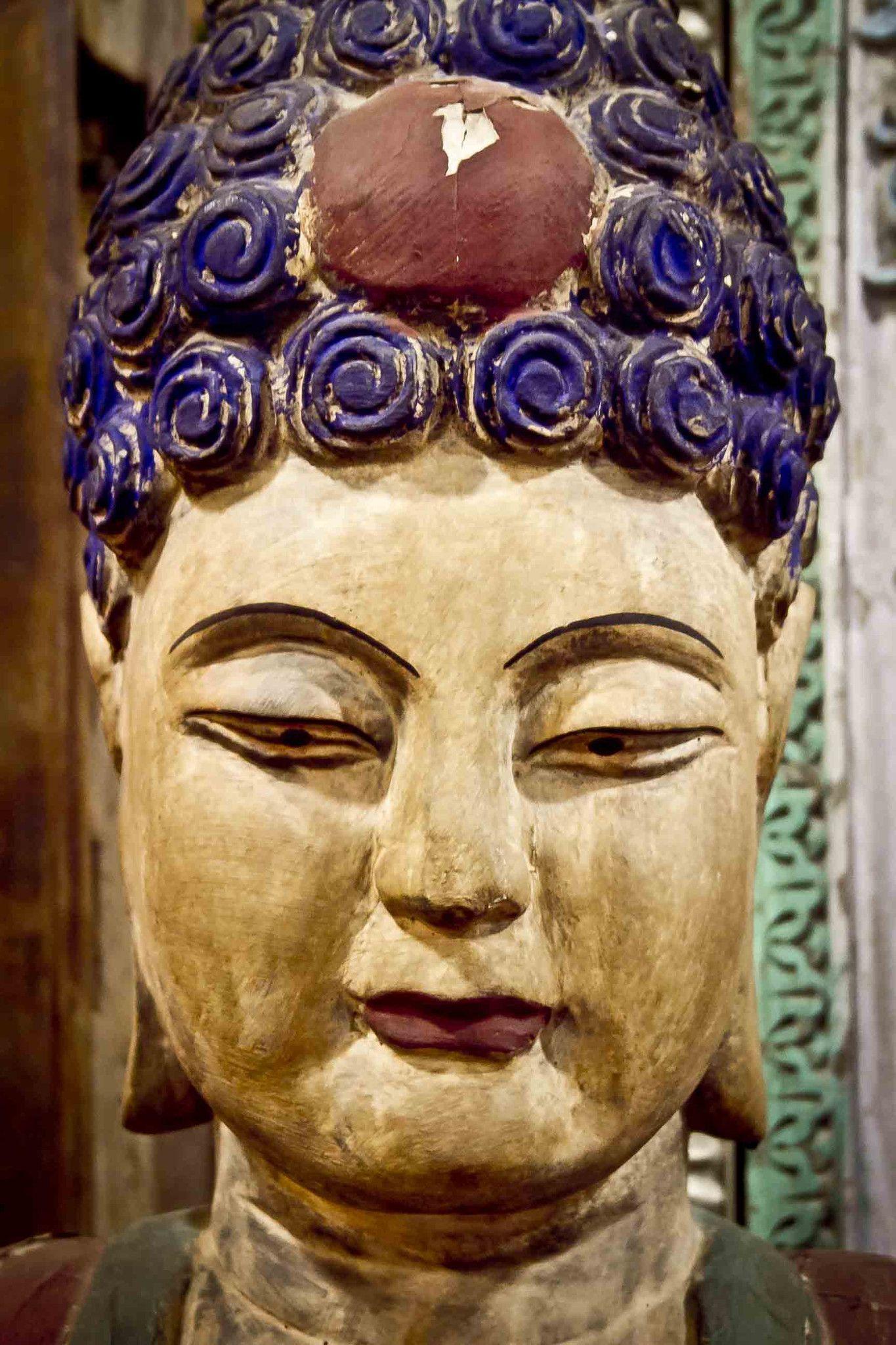 Antique wooden Buddha head   Buddha head, Buddha and Buddhism