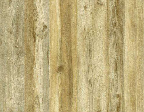 Multiple Color Light Brown Faux Wood Planks Wallpaper FD81003