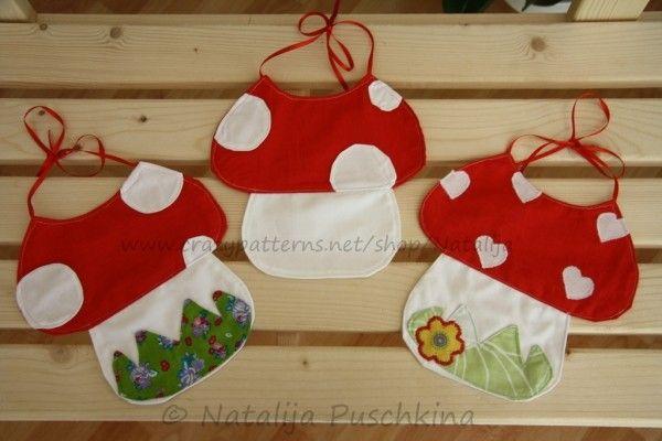 Süße Baby-Lätzchen in Pilzoptik nähen | Sewing for babies 3 ...