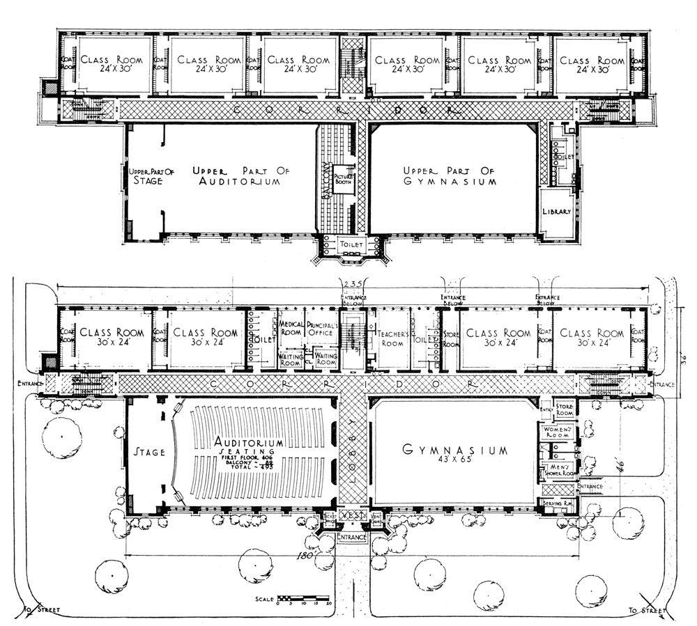 Elementary School Building Design Plans | South Mountain School, South  Orange, N.J. » James