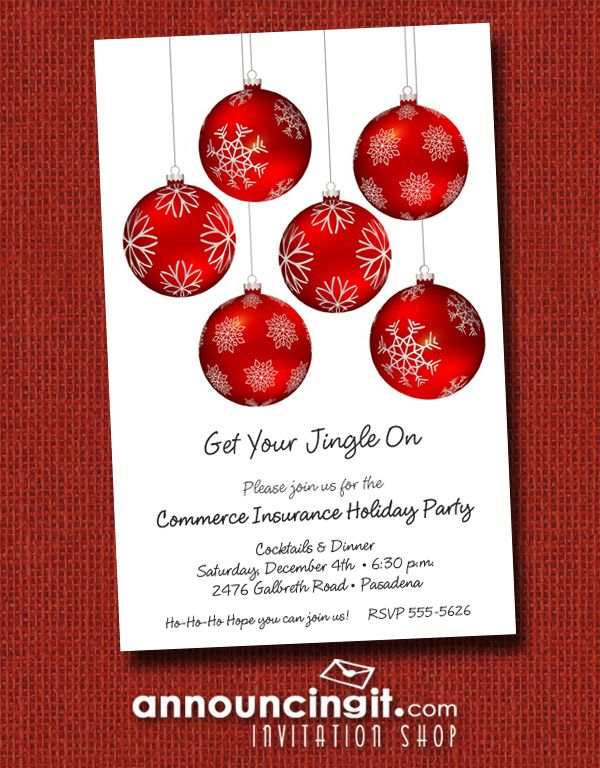 the office christmas ornaments. Red Christmas Tree Ornaments Decorated With Beautiful Snowflakes, Perfect Choice For Party Invitations, The Office S