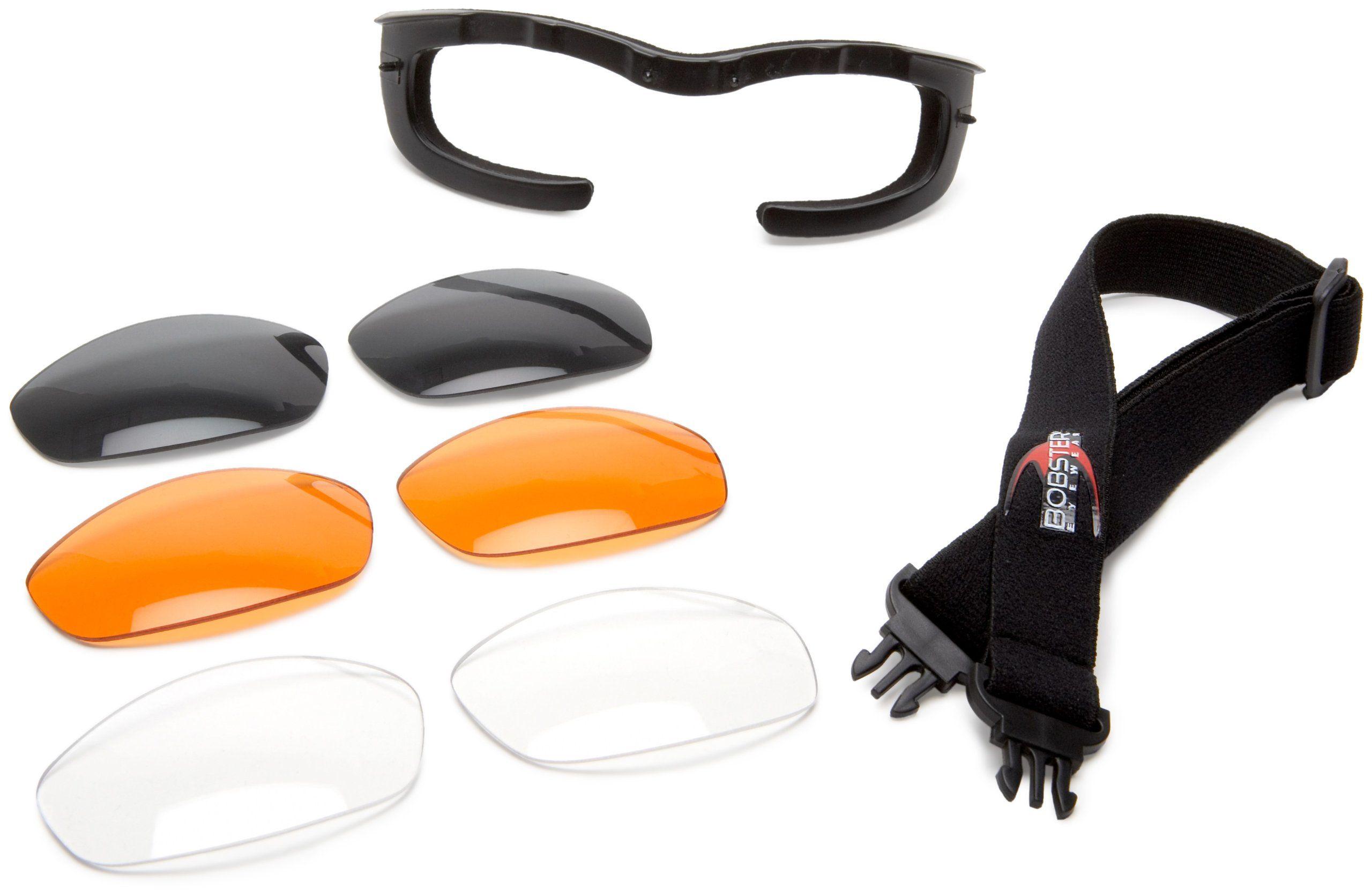 Bobster Mens Tread Sunglasses,OS,Clear//Matte Black