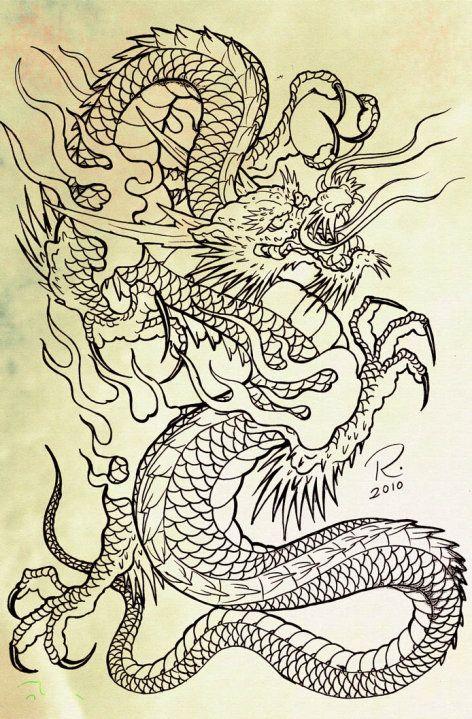 dragon tattoo sketch -   21 dragon tattoo sketch ideas