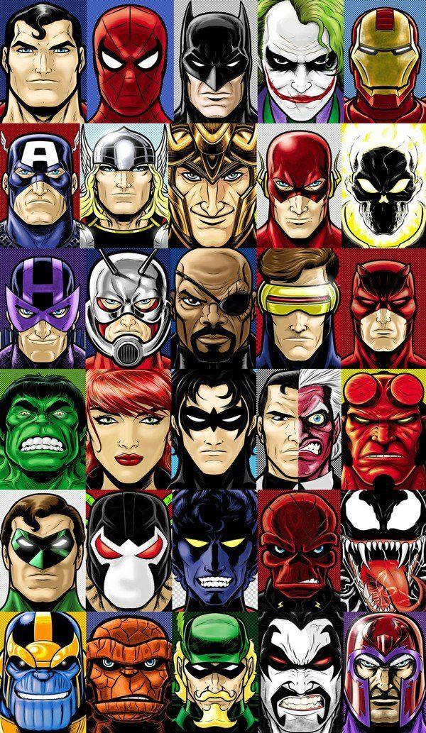 Marvel Poster Marvel Super Heroes Canvas canvas Batman Home Decor Cartoon DC Canvas Poster