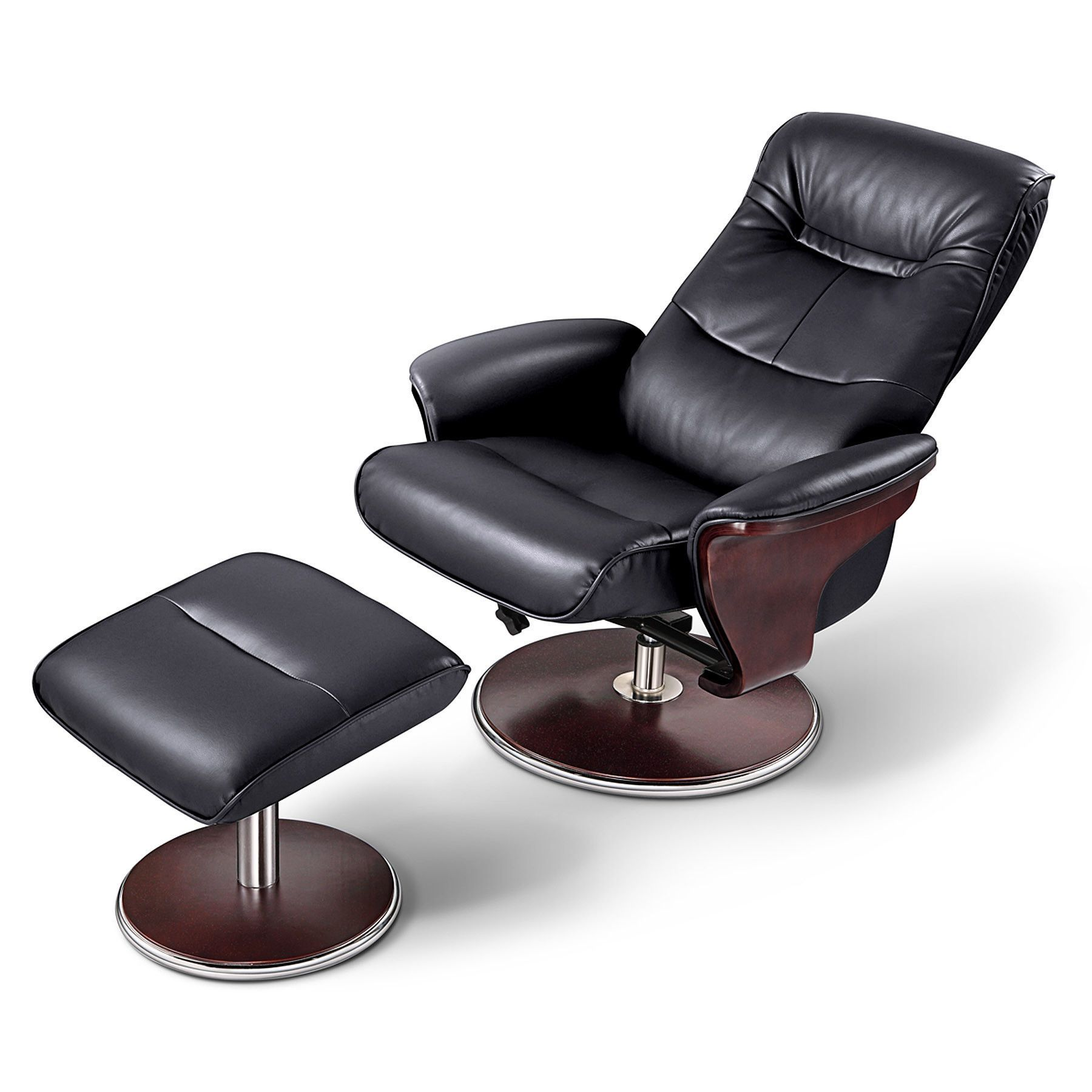 Milano Leather Swivel Recliner And Ottoman Recliner With Ottoman Swivel Recliner Modern Recliner