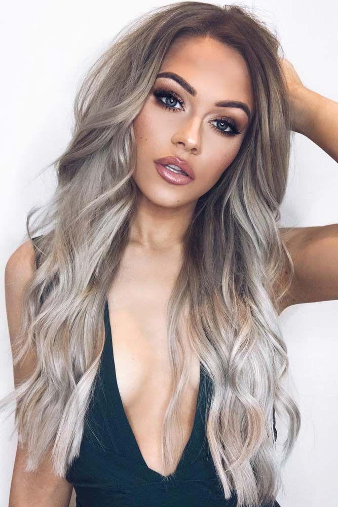 30 Probieren Sie Gray Ombre Hair in dieser Saison aus - Samantha Fashion Life #ombrehair