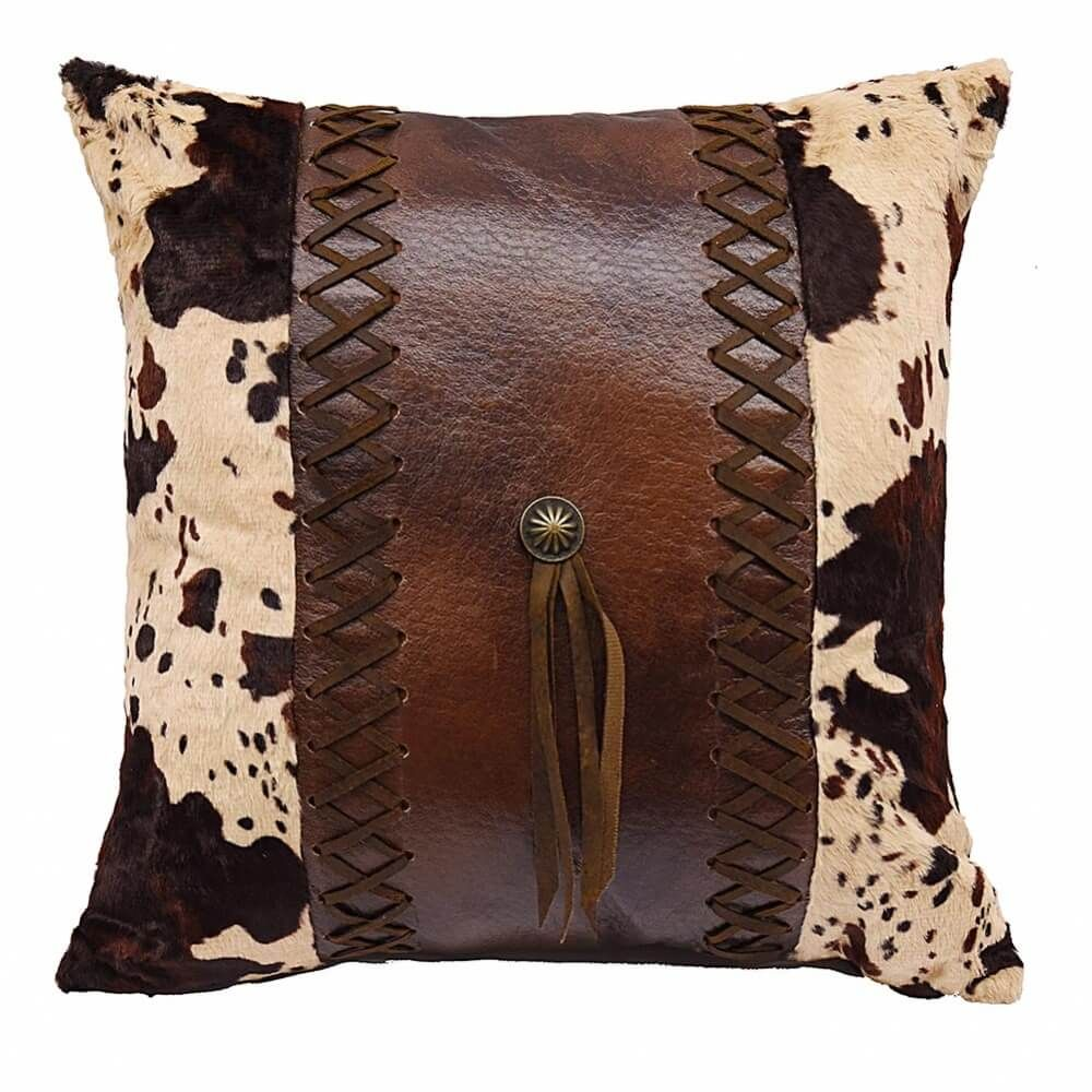 Maia Leather Pillow Accent Chair: High Plains Cowhide Concho Pillow