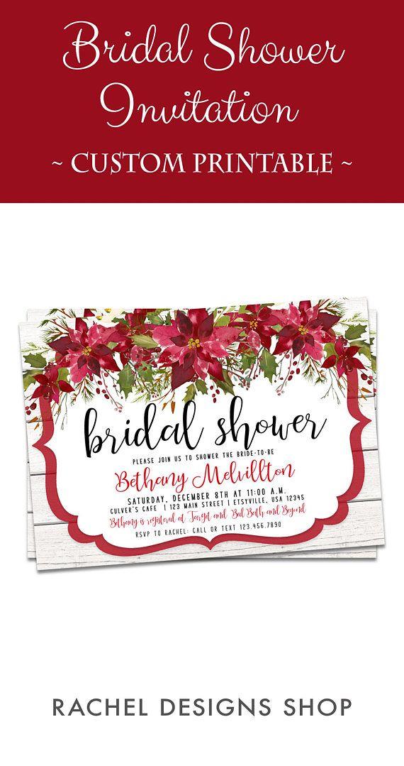Red Bridal Shower Invitations