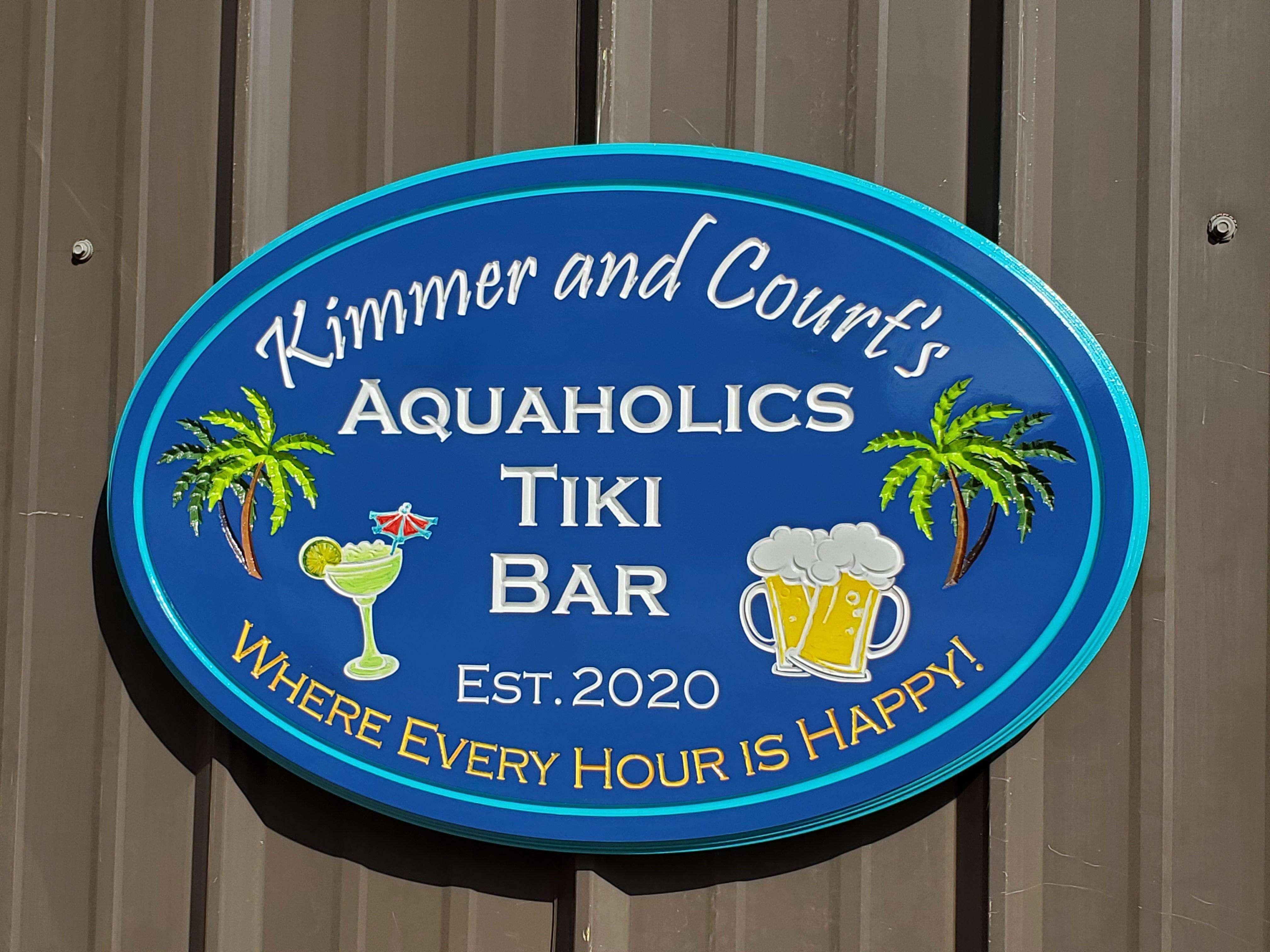 Custom Outdoor Signs Pool Beach Bar Name Signs