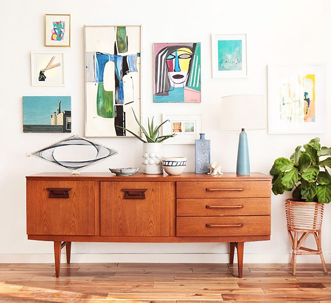 65 Cool Mid Century Living Room Decor Ideas: Mid Century Modern Credenza