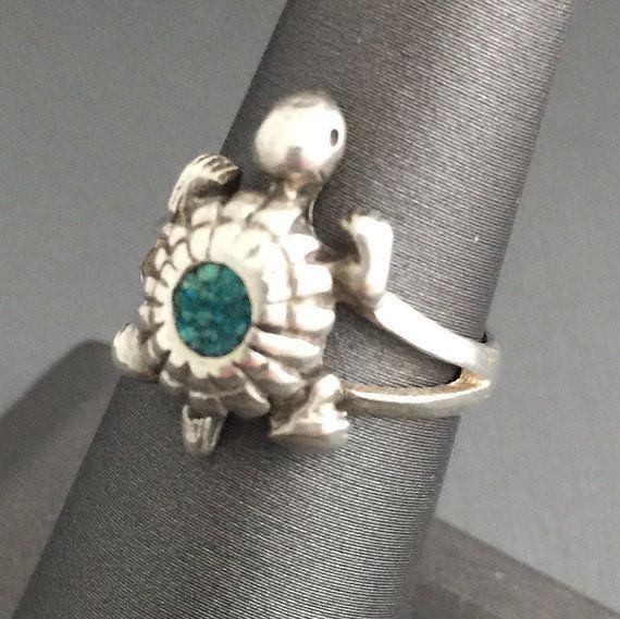 Turquoise Inlay Turtle Set