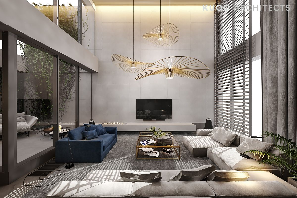 A Luxury Apartment With A Double Height Ceiling Luxury Li