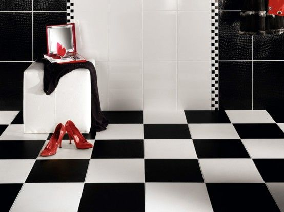 Beautiful Wall Tiles For Black And White Bathroom York By Novabell - Black-and-white-bathroom-york-by-novabell