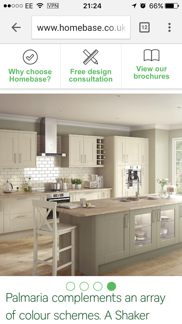 Homebase Palmaria fitted kitchen range in ivory   Ideas for the ...