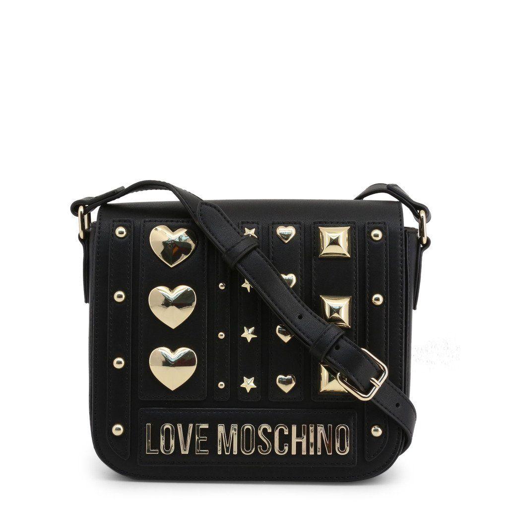 Love Moschino Jc4239pp08kf In 2020 Leather Crossbody Bag Leather Crossbody Black Faux Leather