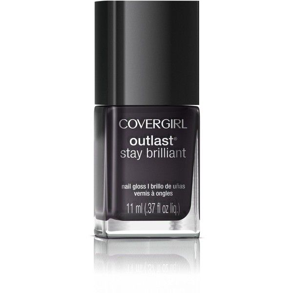 Covergirl Outlast Stay Brilliant Nail Gloss, Black Diamond 325, 0.37... ❤ liked on Polyvore featuring beauty products, nail care, nail polish, glossy nail polish, covergirl nail polish and shiny nail polish