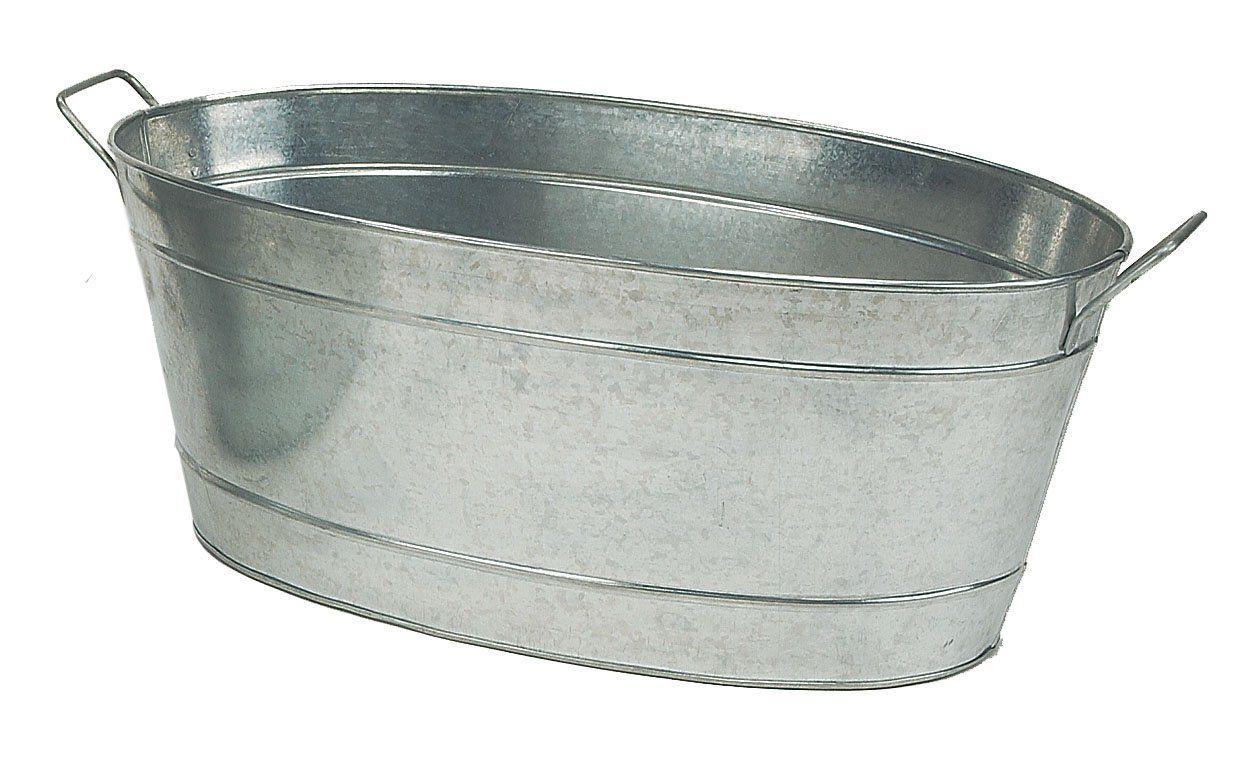 Amazon Com Achla Designs C 55 Large Oval Galvanized Steel Tub