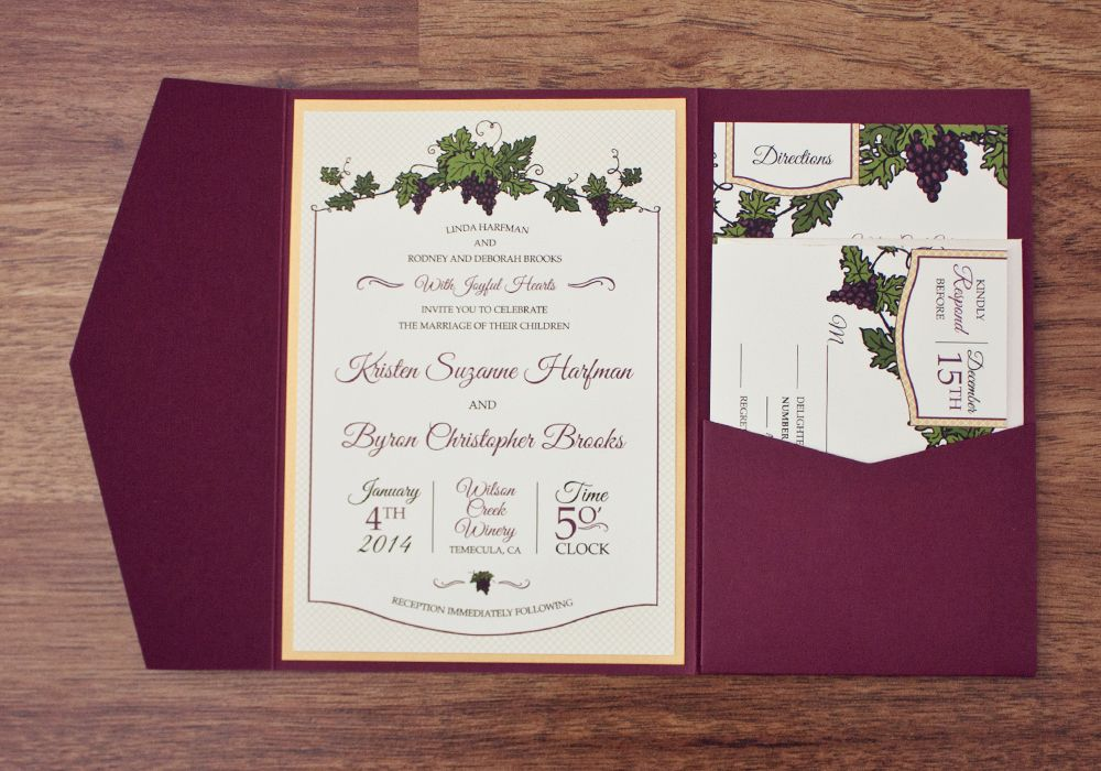 Wine Themed Wedding Invitations Free Download | I\'m Getting Married ...