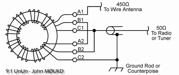 91 Magic Longwire Balun Unun M0ukd Amateur Radio Station. 91 Magic Longwire Balun Unun M0ukd Amateur Radio Station Information Page. Wiring. Long Wire Antenna Tuner Schematic At Scoala.co