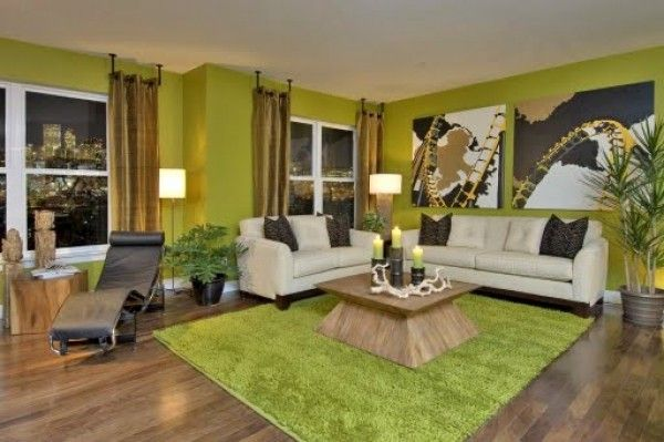 Living Room Design Concepts Enchanting Deco Green Interior  Green Interior Design Concept Green Modern Design Decoration