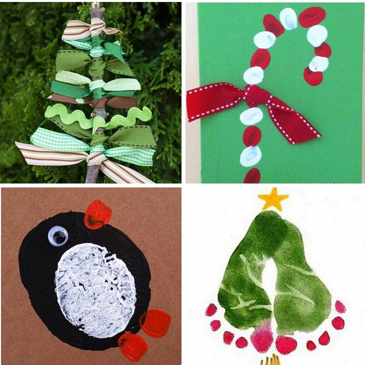 Nice Christmas Card Making Ideas For Kids Part - 7: 11 Totally Adorable Homemade Christmas Cards For Kids To Make For Grandma!