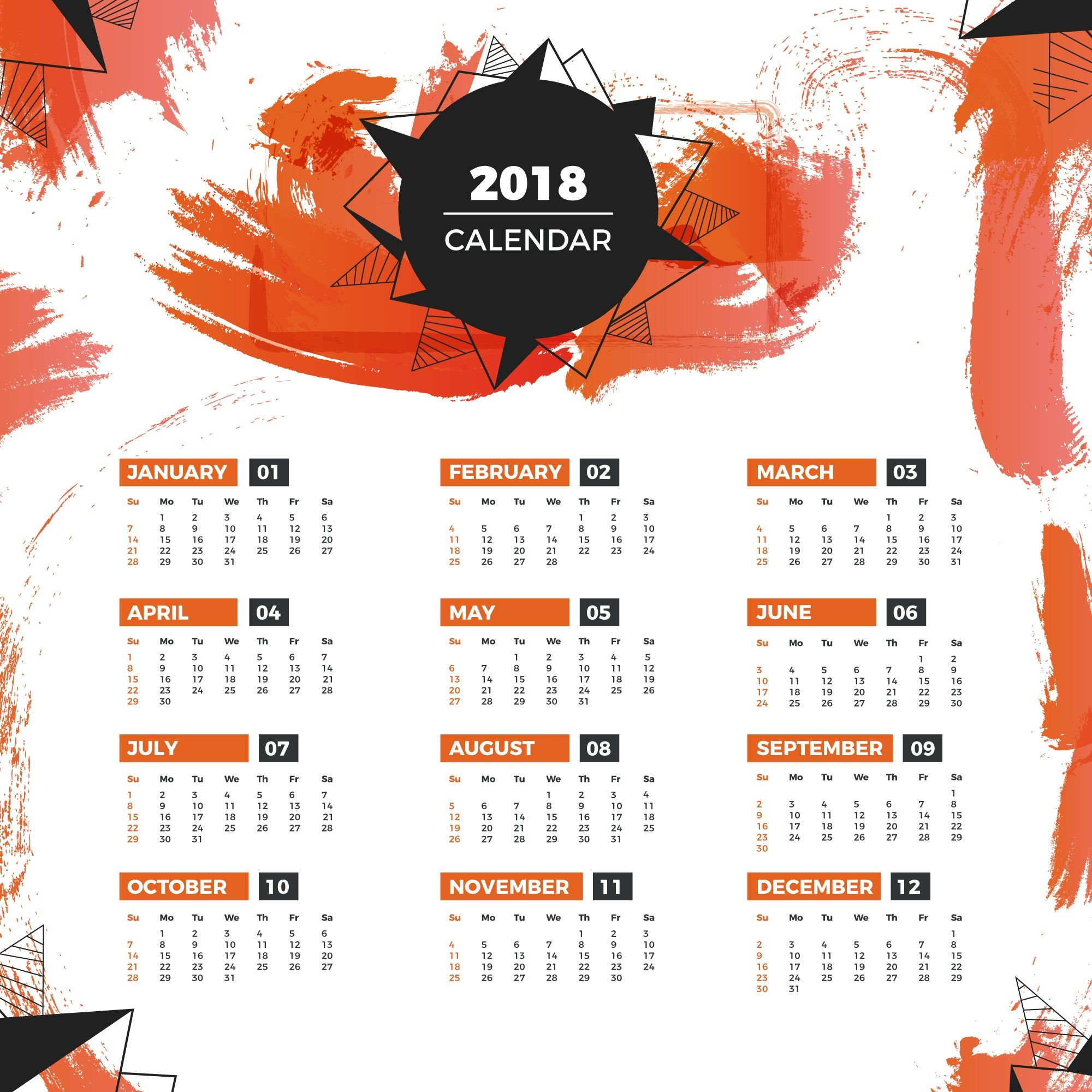 2018 Year Calendar Wallpaper Download Free 2018 Calendar By