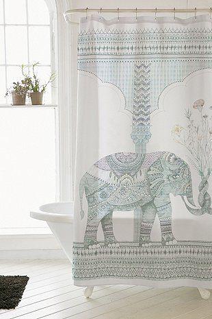 Duschvorhang mit Elefantendesign … | Pinteres…