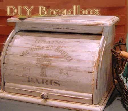 Diy French Bread Box Bread Boxes Wooden Bread Box Vintage