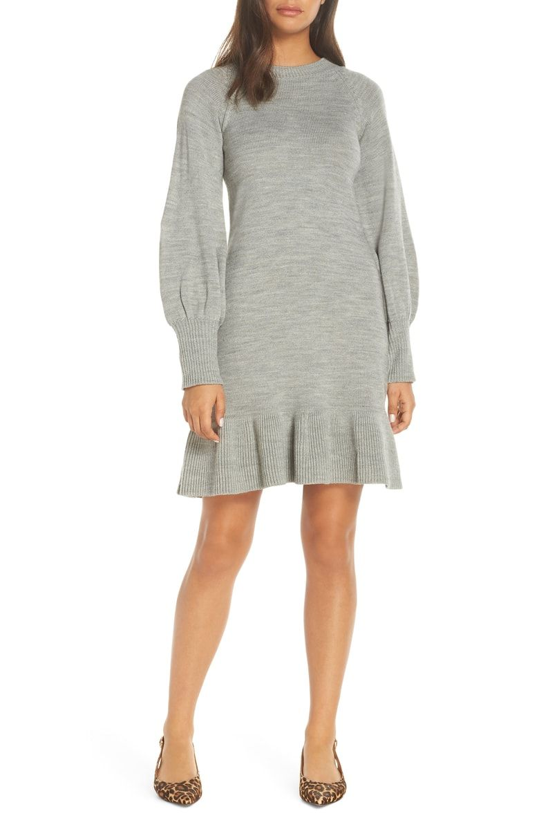 caf29e11d1c Free shipping and returns on Eliza J Balloon Sleeve Sweater Dress at  Nordstrom.com. Defy expectations in this flouncy sweater-dress with  raglan-style ...