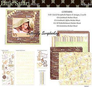 paper+studio+little+safari+layout | Baby Little Safari 12x12 Scrapbooking Kit The Paper Studio Memories ...