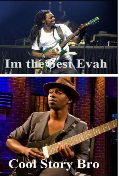 Tosin Abasi Animals As Leaders Lil Wayne Laughed Out Loud Abasi Is Monster Music Memes Laugh Out Loud Tosin Abasi