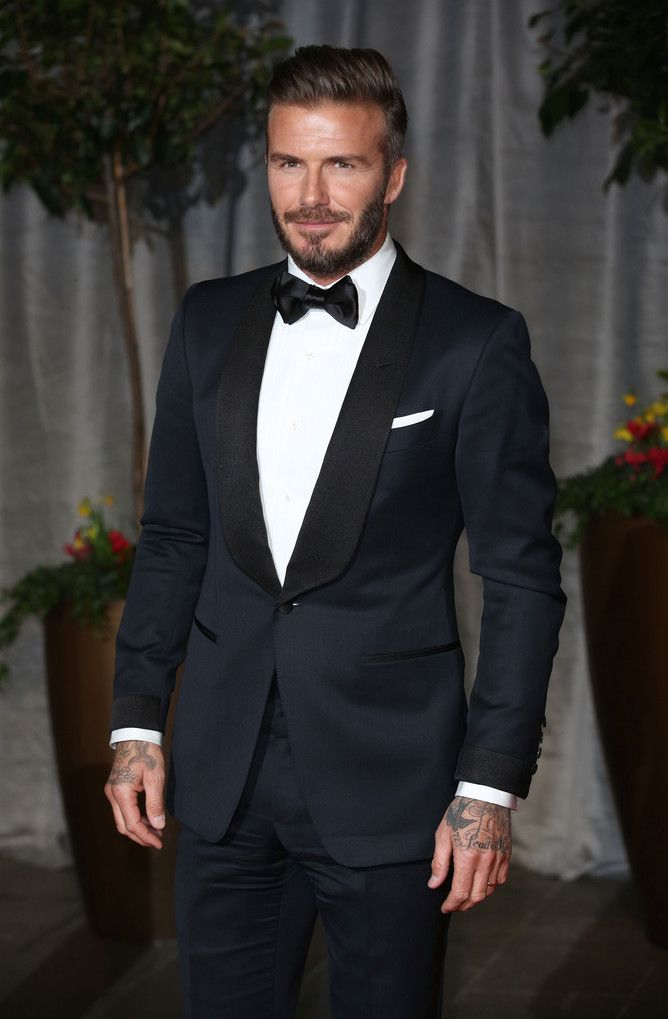 Super David Beckham Wears Tom Ford Tuxedo at 2015 BAFTAs | UpscaleHype  HL28
