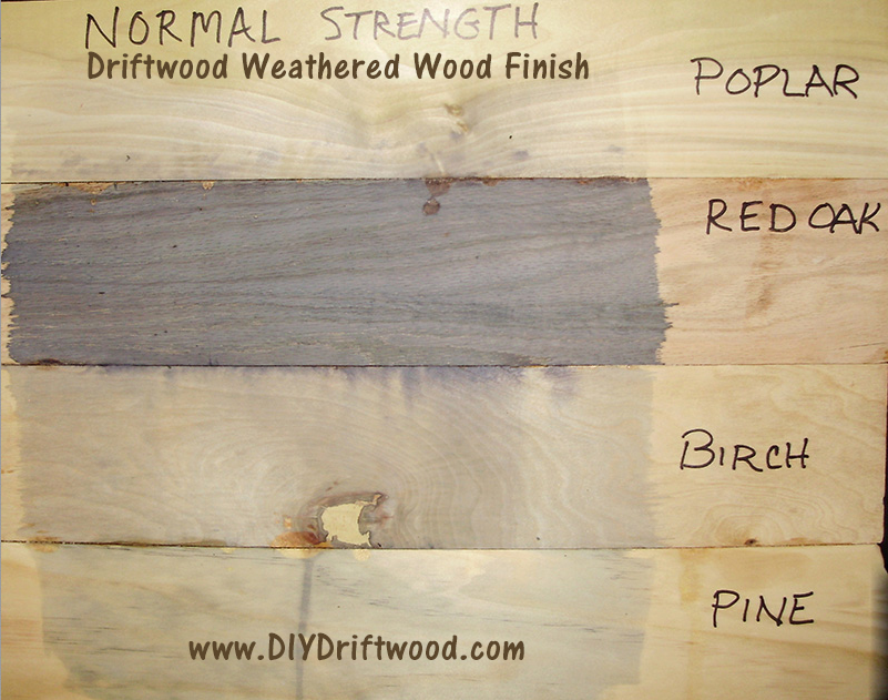 how to make wood turn gray